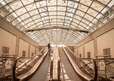 Rolltreppe zum Dach