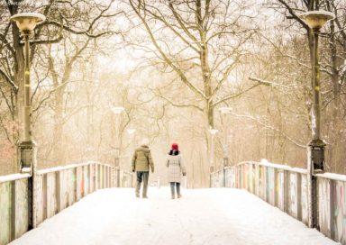 Winterspaziergang am Rennbahnsteg