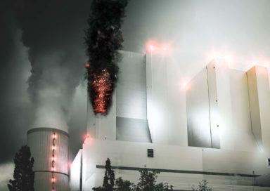 Brand im Kraftwerk