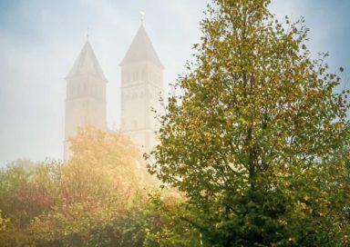 Kirchtürme im Nebel